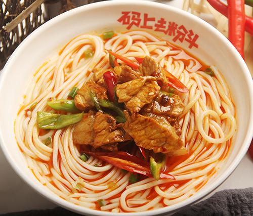 辣椒炒肉汤粉